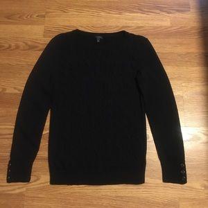 Talbots Black Crew Sweater.